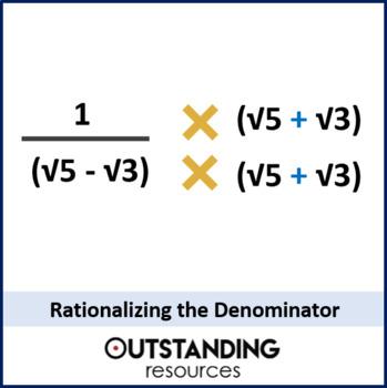 Radicals 4 - Rationalizing the Denominator (+ worksheet)