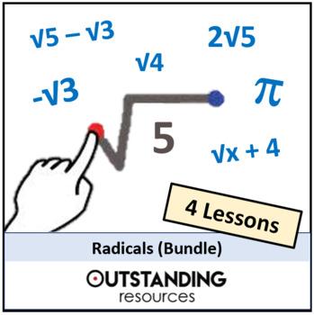 Number: Radicals BUNDLE (4 Lessons) + lots of resources