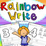 Rainbow Write: numbers