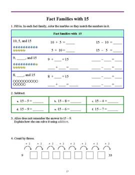 Number Rainbows & Fact Families (Grade 2)