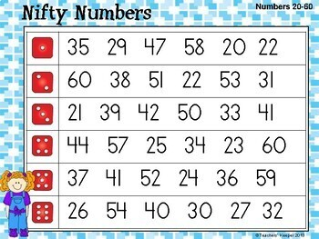Number Identification Game, Practice, Assessment: Nifty Numbers!