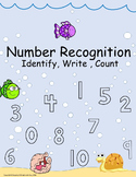 Number Identification Activity Sheets 0 - 10