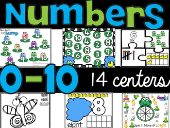 Number Sense 0-10 : Fourteen Math Centers