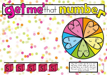Number Recognition 0-10 'Get Me Task'