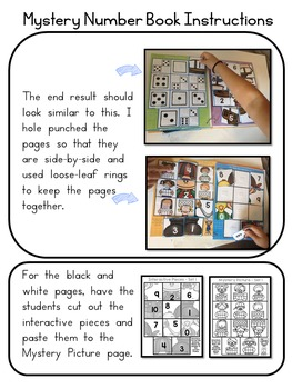 Number Recognition 0-10 Interactive Mystery Pictures