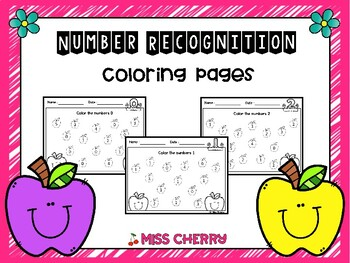 Number Recognition 0-20: Coloring Pages