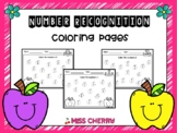 Number Recognition 0-20: Coloring pages FREE