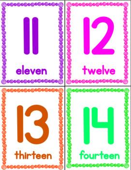Number Recognition 0-20 Flash Cards #TeachersLoveTeachers