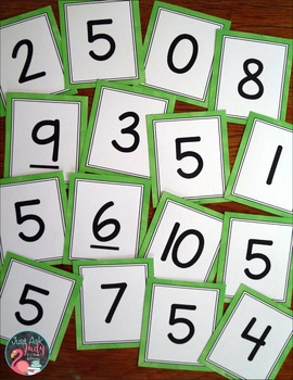 Number Recognition 0-20 Stack the Deck A Flashcard Activity