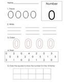 Number Recognition 0 through 10