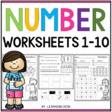Number Recognition 1-10 - Number Sense Worksheets