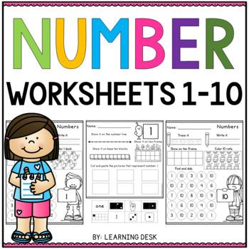 Number Recognition 1 10 Number Sense Worksheets