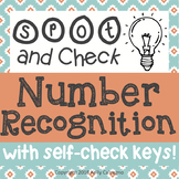 Number Recognition 1-10 Spot and Check