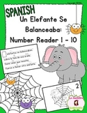 Number Recognition 1-10: Un Elefante Se Balanceaba Number Reader (Spanish)