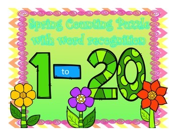 Number Recognition 1-20 Puzzles