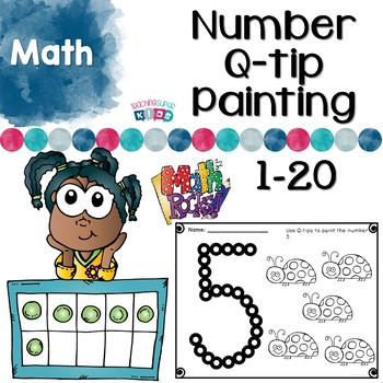 Q-tip Number Painting Activities by Teaching Superkids | TpT