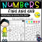 Number Recognition 1-20 (number sense worksheets) DISTANCE LEARNING PACKET