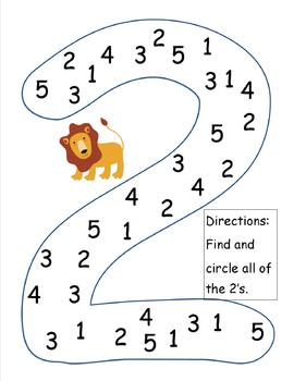 Number Recognition (1-5)
