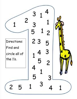 Number Recognition (1-5) by Hollie Reece | Teachers Pay Teachers