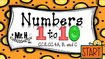 Number Recognition 1 to 10  (Interactive Powerpoint!!) Always $1.00!!