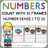 Number Recognition 1 to 20: Counting with Ten Frames to 20