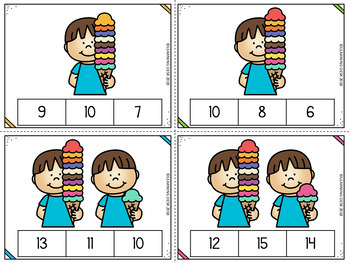Number Recognition 1 to 20 : Number Sense Activities