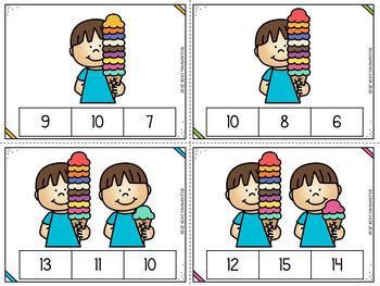 Number Recognition 1 to 20 : Number Sense Centers Kindergarten BUNDLE