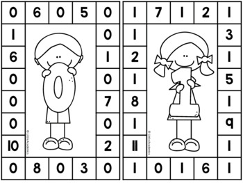 Number Recognition 1 to 20 - Number Punch Cards