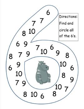 Number Recognition (6-10)