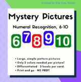 Number Recognition 6-10, NO PREP, with simple designs and