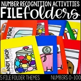 Number Recognition Activities: Number File Folders for Special Education