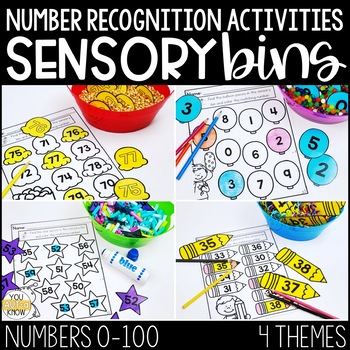 Number Recognition Activities: Number Sensory Bins for Special Education