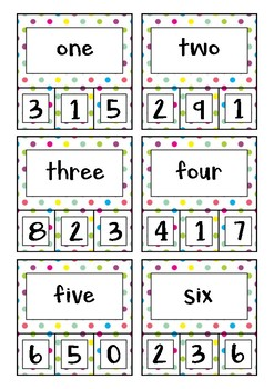 Number Recognition Activity