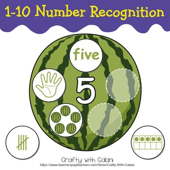 Number Recognition Activity, Math Center Activity in Assor