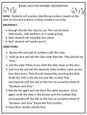 Number Recognition Activity: Using Dice to Teach Students Numbers