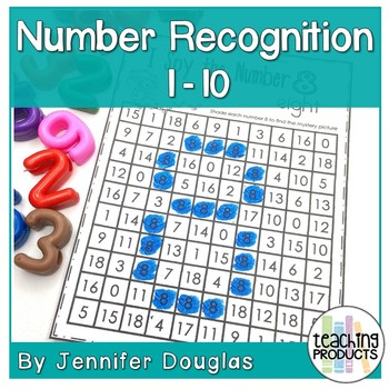 Number Recognition Activity and Worksheets I Spy Numbers 1-10 Free