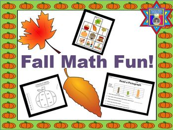 Number Recognition, Addition, and Graphs:  FALL FUN!