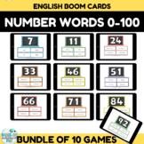 Number Recognition Assessment 0-100 BUNDLE Boom Cards
