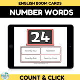 Number Recognition Assessment 20-30 Boom Cards
