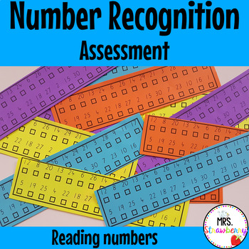 Number Recognition Assessment - Reading Numbers
