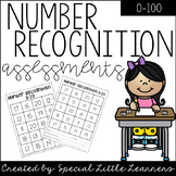 Number Recognition Assessments {0-100}