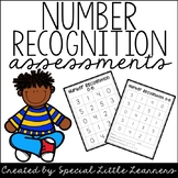 Number Recognition Assessments {0-20}