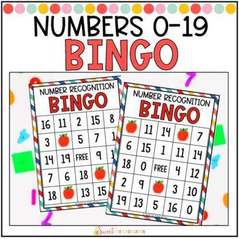 Number Recognition Bingo 0-20