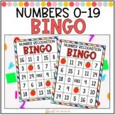 Number Recognition Bingo 0-19