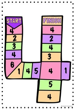 Number Recognition Board Games Numbers 0-5
