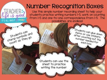 Number Recognition Boxes