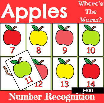 Number Recognition Center or Whole Group Game with Apples