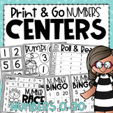 Number Recognition Centers {for Practicing Number Identification}