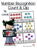 Number Recognition - Count and Clip #s 1-15
