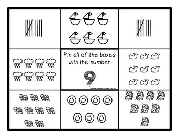 Number Recognition (Counting)- Self-Checking Math Centers